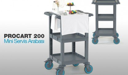 Procart 200 New Mini Service Trolley for Restaurants and Cafes!