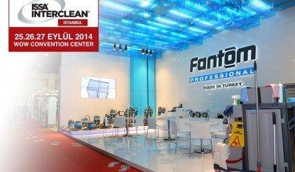 Fanset, Uluslararası İstanbul ISSA/INTERCLEAN Endüstriyel Temizlik Fuarına Fantom Professional Markasıyla katıldı!