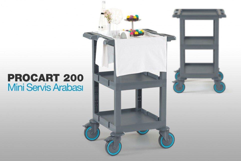 Restoran, Kafe ve Fastfood Tipi Yeni Mini Servis Arabası PROCART 200 !